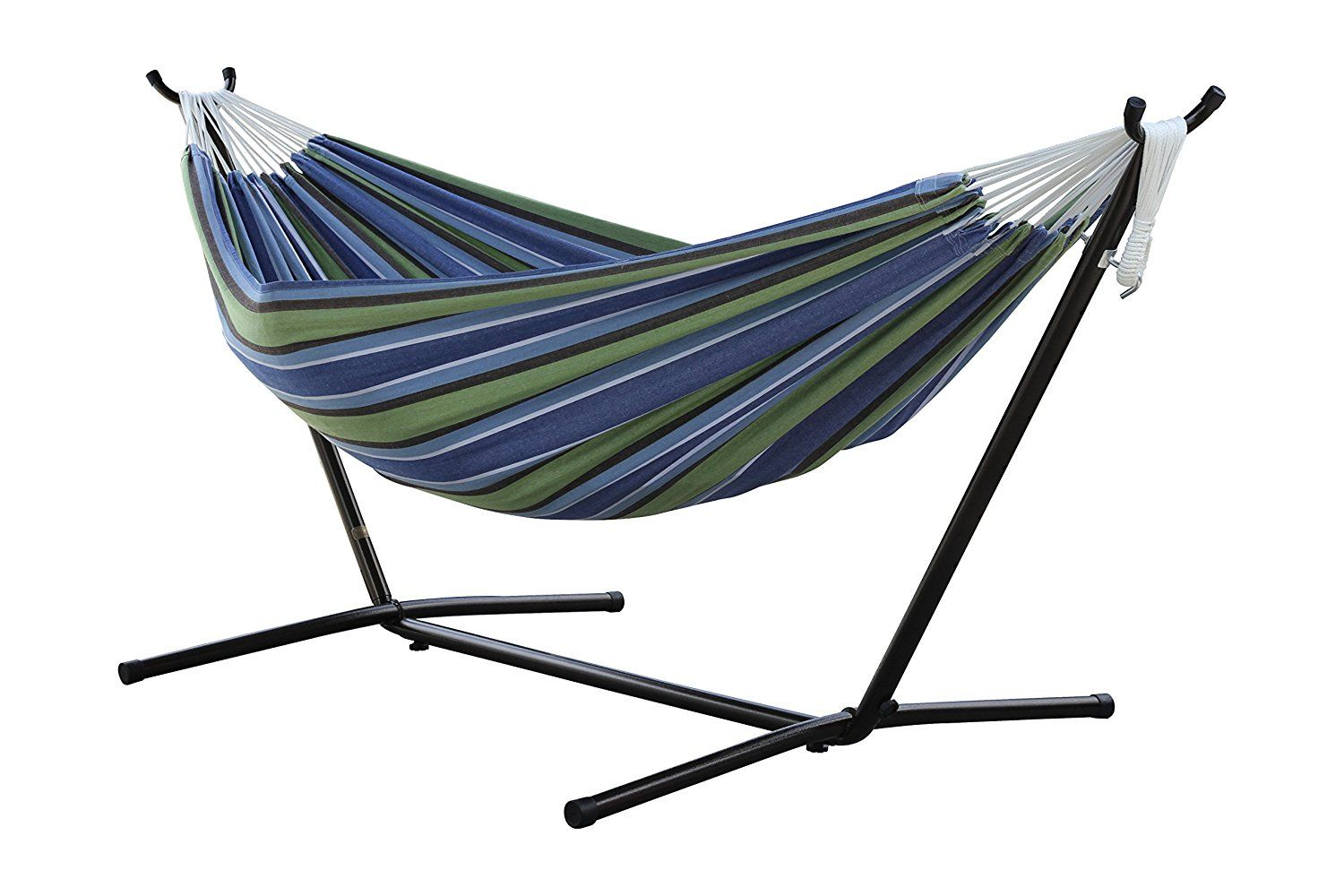 Vivere double hammock with space saving steel stand new stuff