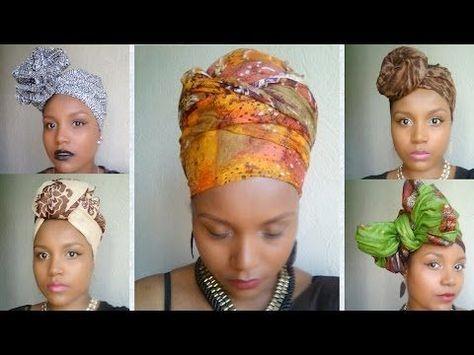 Headwrap tutorial 1 / Attaché de foulard, lesso, turban
