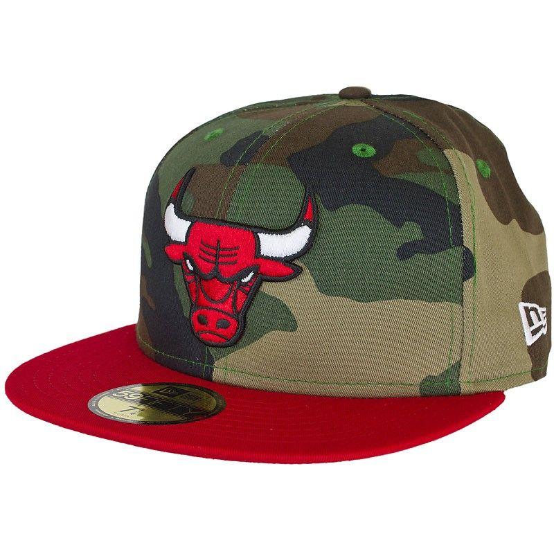 New Era Camo Team Visor Chicago Bulls