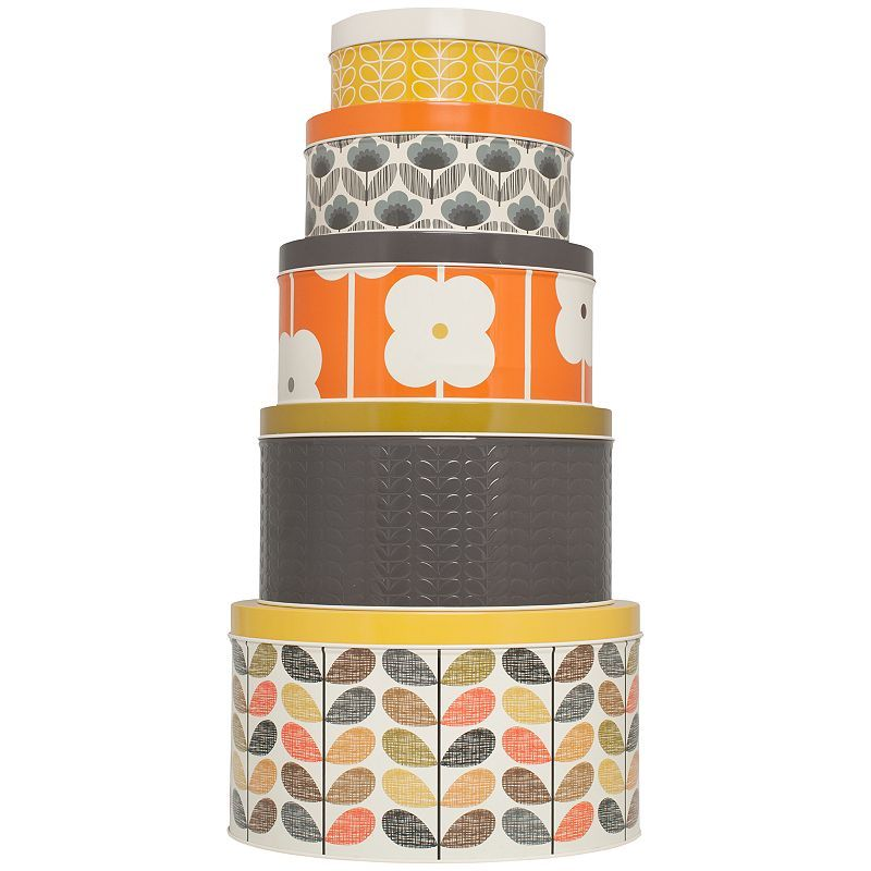 Orla Kiely storage Tin Multi Stem