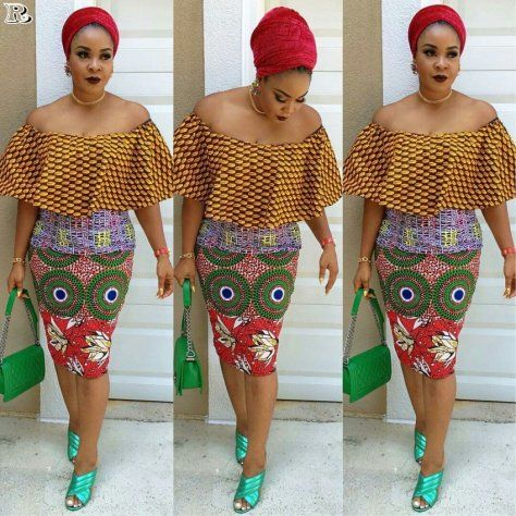 Ankara Skirts for church and the TGIF office outfit