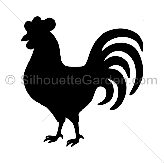 Rooster Silhouette Rooster Silhouette Animal Silhouette Silhouette Art