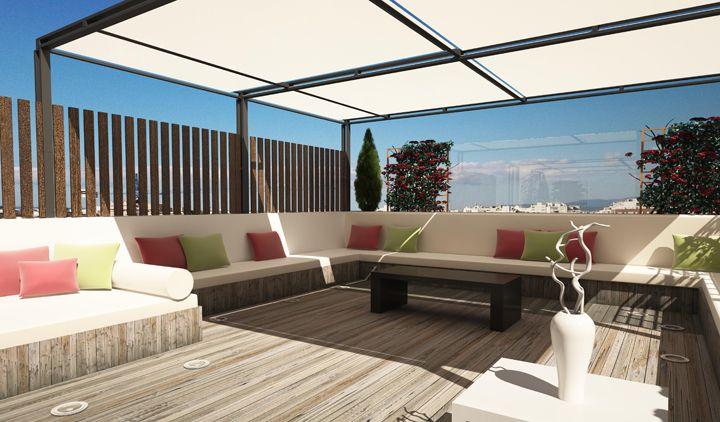 ideas para decorar la terraza de un tico