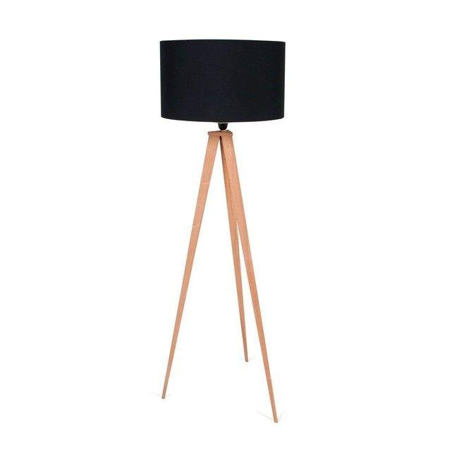 Lampadaire Tripod Wood Lampadaire De Decoration Design Caracteristiques Abat Jour Textile Avec Velcro Tr Lampadaire Lampadaire Trepied Bois Lampadaire Trepied