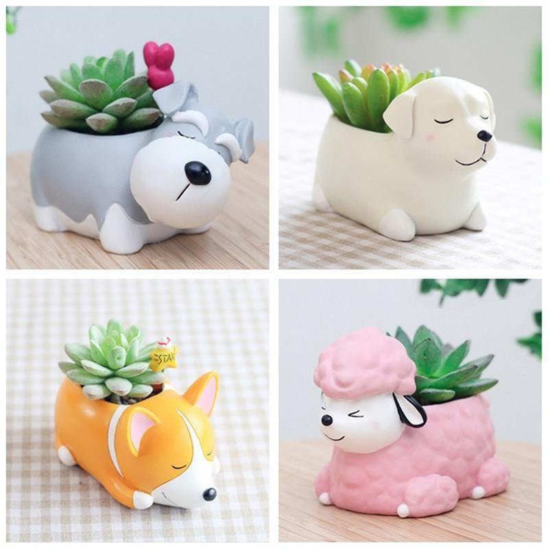 Puppy Flower Pot #plantersflowers