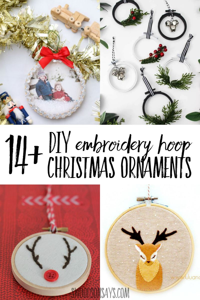 14 Tutorials For Embroidery Hoop Christmas Ornaments Kids Christmas Ornaments Embroidery Hoop Crafts Christmas Ornaments