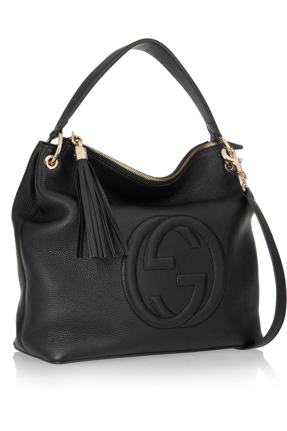 278860759 Gucci | Soho Hobo textured-leather shoulder bag | NET-A-PORTER.COM ...