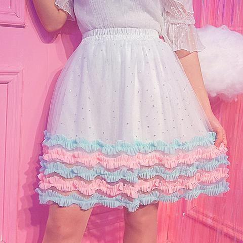 c5cdf6244 Sweet Starry Layered Skirt SP1812343 in 2019 | My Spreepicky Wishlist |  Layered skirt, Skirts, Dresses