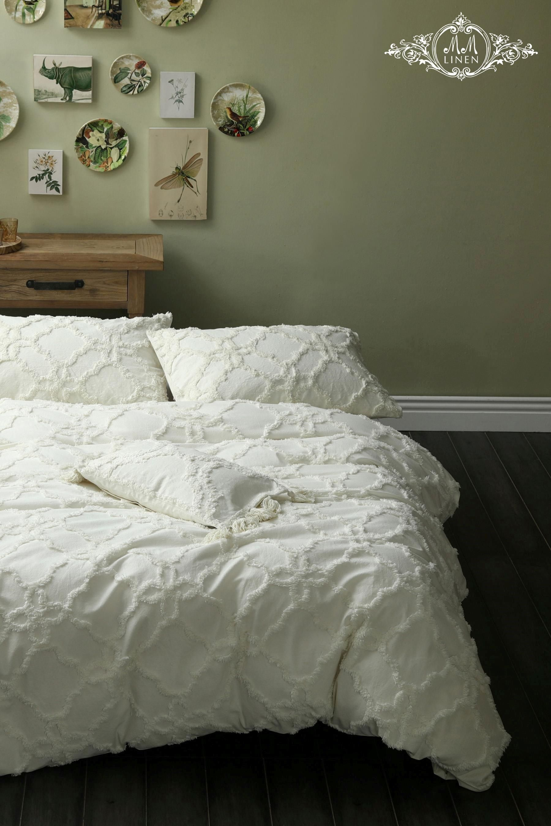Buy mm linen clover duvet cover and pillowcase set from
