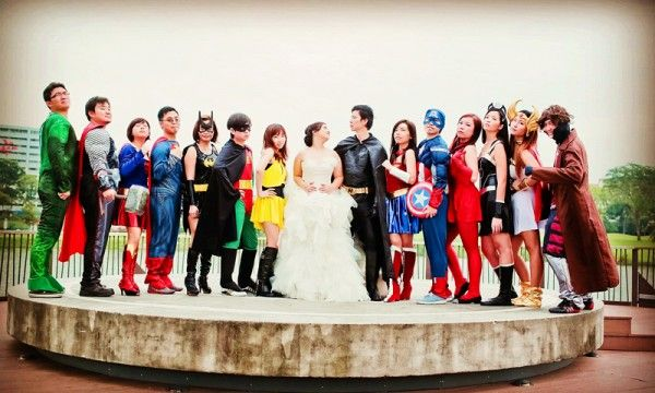 Image result for superhero wedding