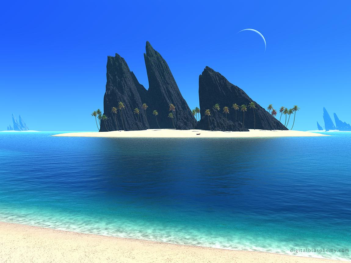 Island From Digital Blasphemy Beautiful Beaches Beach Wallpaper Beach Background