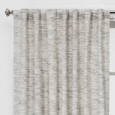84 X54 Striation Herringbone Light Filtering Window Curtain Panel