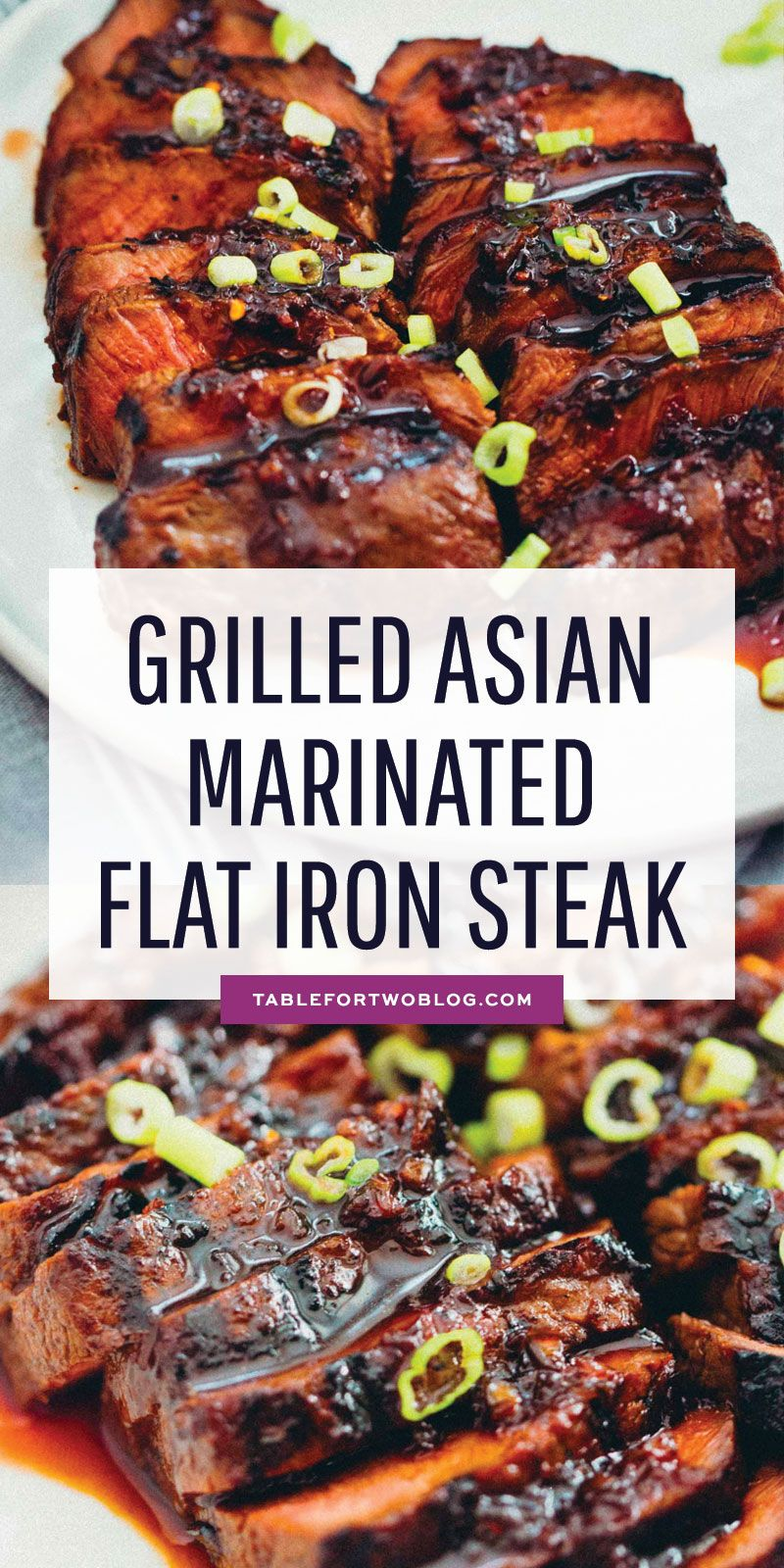 Grilled Asian Marinated Flat Iron Steak - Grilled Flat Iron Steak Recipe
