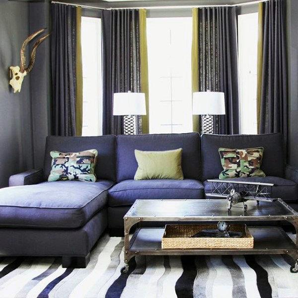 100 Bachelor Pad Living Room Ideas For Men - Masculine ...