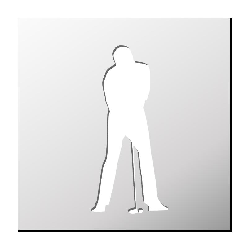 Pochoir Golfeur