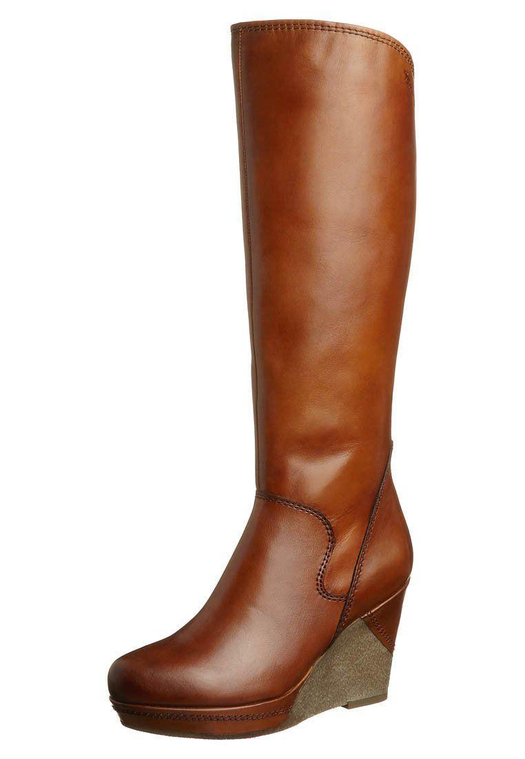 cuoio - Støvler m/ kilehæl - brun