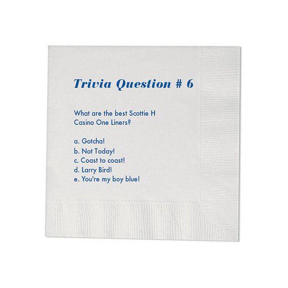 100 Trivia Personalized Beverage Napkins By Memorablewedding 36 99