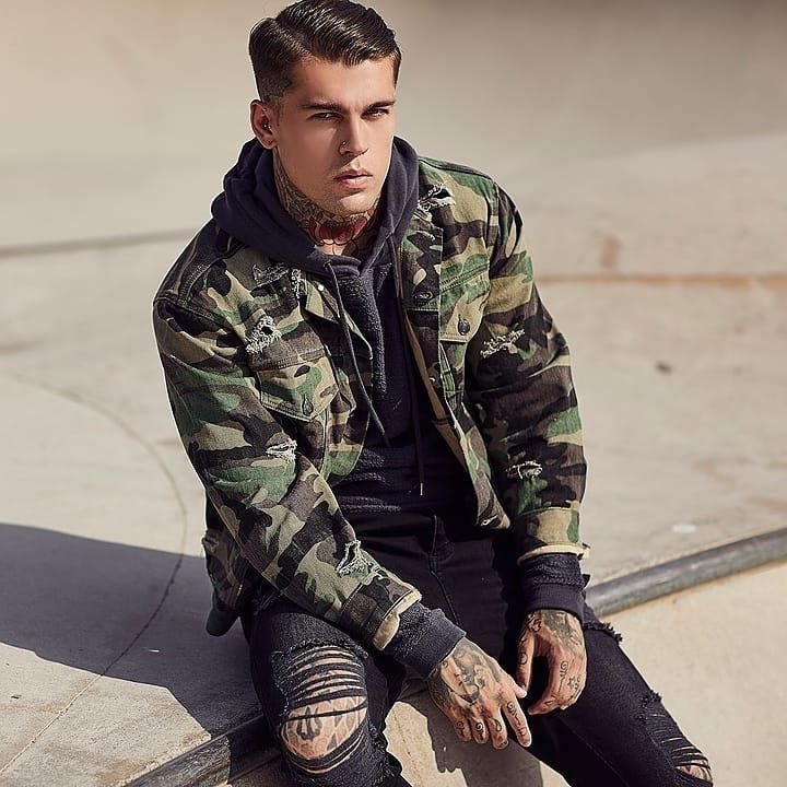 85dd47effa The SikSilk Camo Collarless Denim Jacket is now in our SikSilk Sale with  25% off! Shop now at www.siksilk.com 🔎SS-12812 online  siksilk   followthemovement ...