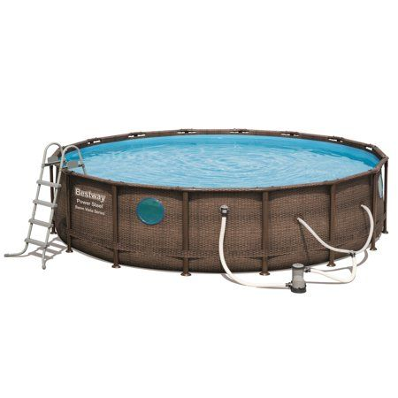 Power Steel Swim Vista Series 16' x 48 inch Pool Set ...