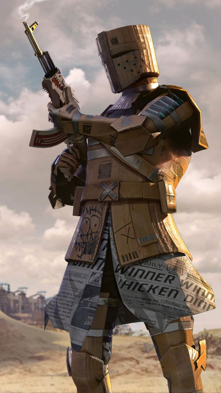 Pubg Cardboard Warrior 4k Ultra Hd Mobile Wallpaper Gaming Wallpapers Hd Joker Hd Wallpaper Mobile Legend Wallpaper