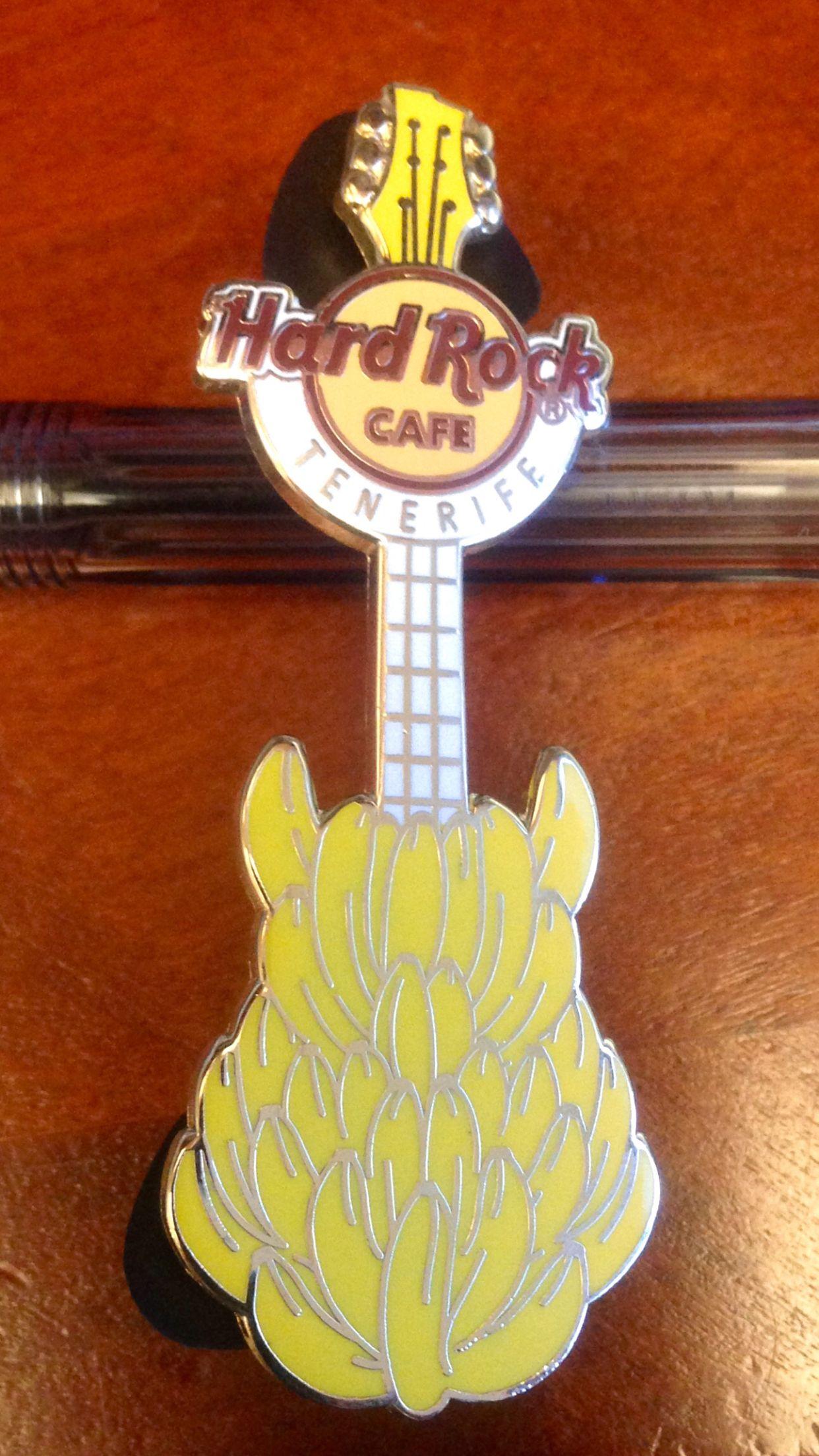 Hard Rock Cafe Tenerife Banana Guitar Pin. | Hard Rock Cafe Pins ...