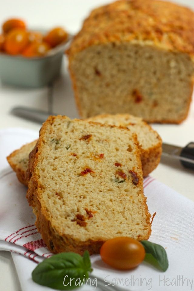 Sun Dried Tomato and Parmesan Quick Bread recipe | Craving Something Healthy