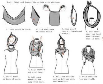 how to tie a scarf (because I have no idea what