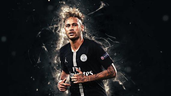 PSG and Brazil Star Neymar Framed Photo Print Neymar