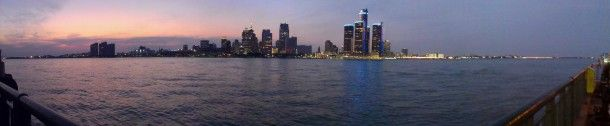 Detroit from Windsor Ontario Canada  #city #detroit #windsor #ontario #canada