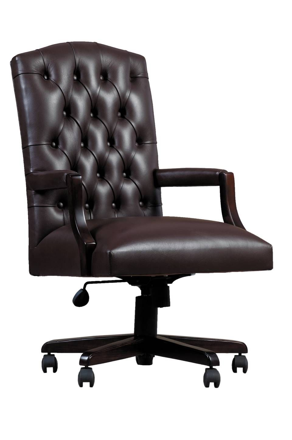 Cantebury Swivel Office Chair In Leather Wetherlys