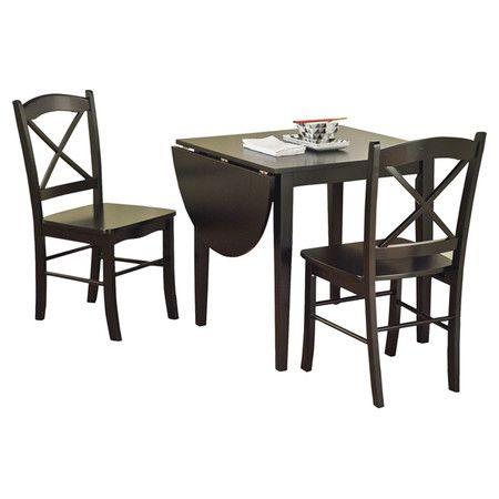 Found It At Wayfair Tiffany 3 Piece Dining Set In Black At Less Than 200 Whites Already Gone I Dining Room Sets Dining Table Setting Drop Leaf Dining Table