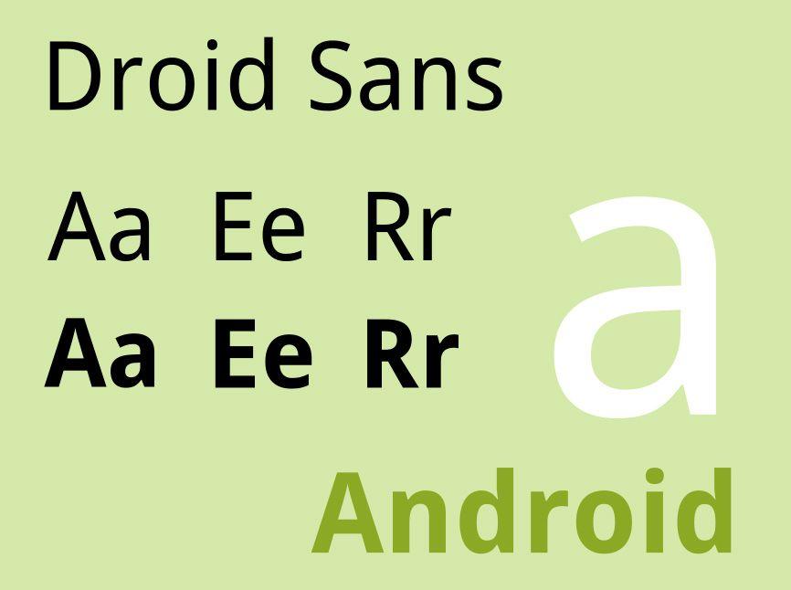 Droid Sans is a humanist sans-serif typeface which was