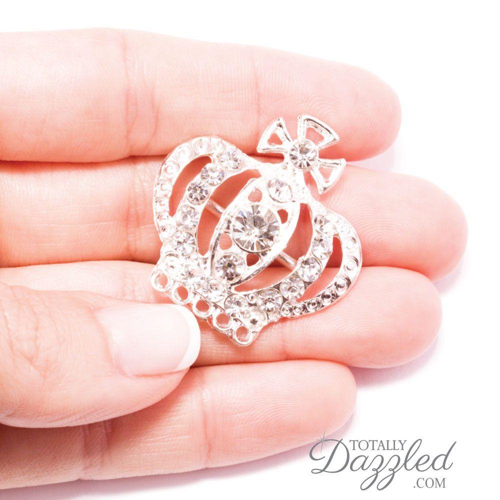 diamond wedding invitations%0A Princess Wedding Invitation Buckles from www totallydazzled com
