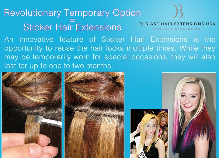 Revolutionary Temporary Makeover Option Sticker Hair Extensions By