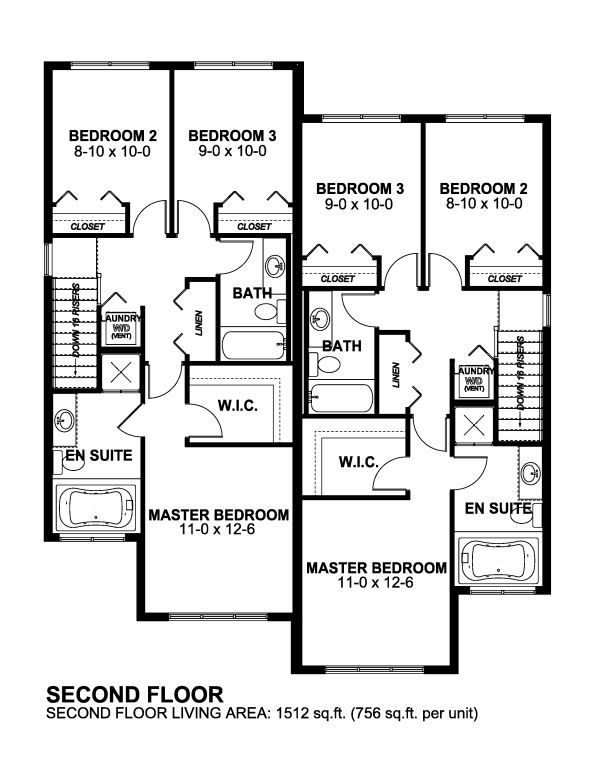 Country Ranch Southern Multi Family Plan 59208 Duplex Floor Plans Duplex Plans Duplex House Plans