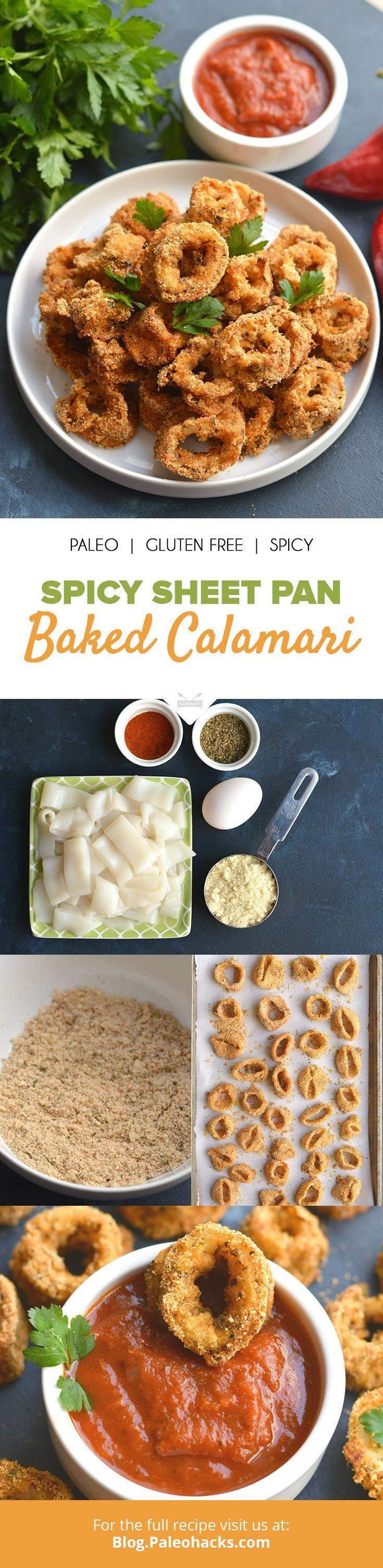 Spicy Sheet Pan Baked Calamari Recipe Calamari recipes
