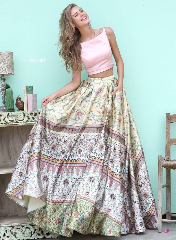 e9189b4801 50924 - SHERRI HILL Grad Dresses, Bohemian Prom Dresses, Formal Boho Dress,  Floral