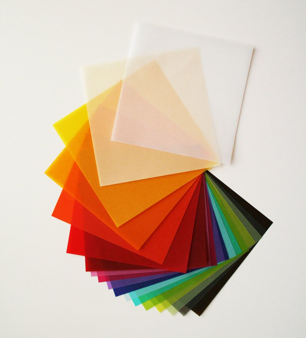 Sample Sheet Single Sheet Of Origami Vellum Paper Translucent