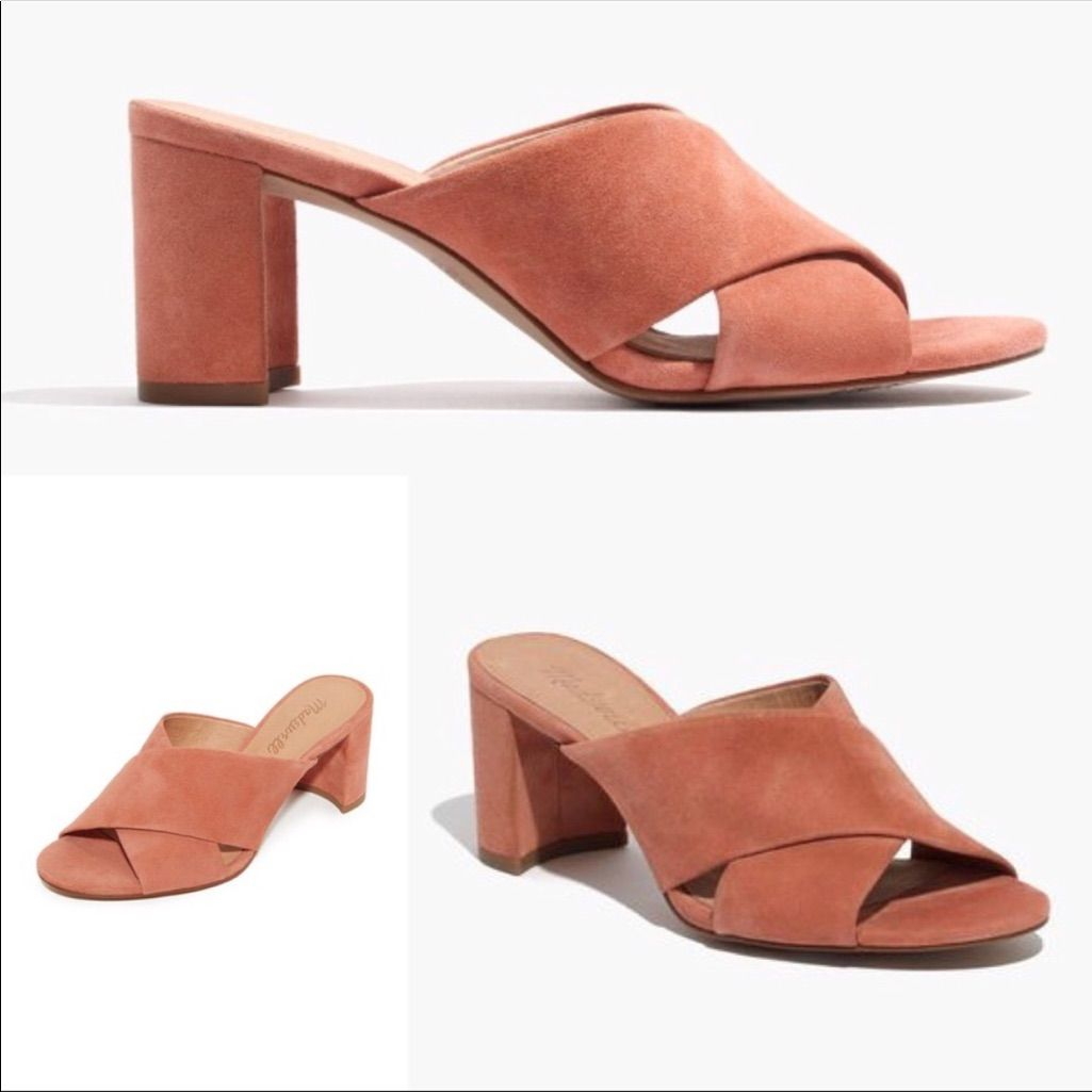 Best Madewell Shoes Madewell Suede Mules Color Pink Tan 400 x 300