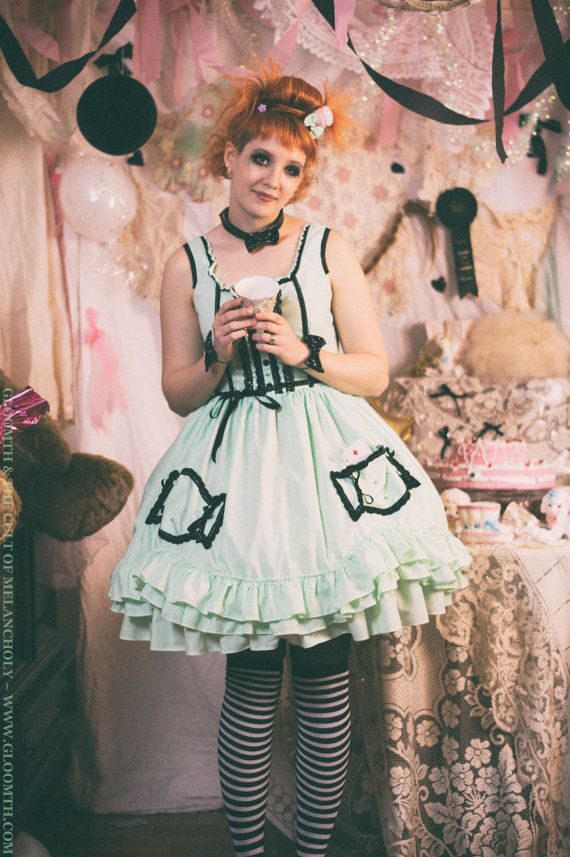 0cc2483f60e Gloomth   the Cult of Melancholy BonBon Dress (PETTICOAT NOT INCLUDED) MADE  TO ORDER