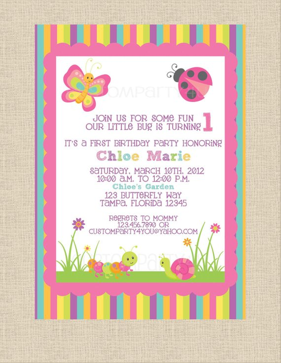 Butterfly Garden Birthday Invitation Perfect For Spring And Summer Partys
