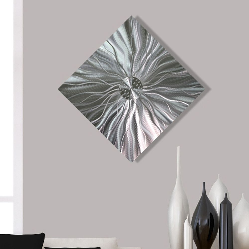 Contemporary Abstract Metal Wall Art Home Decor - Static Energy by ...