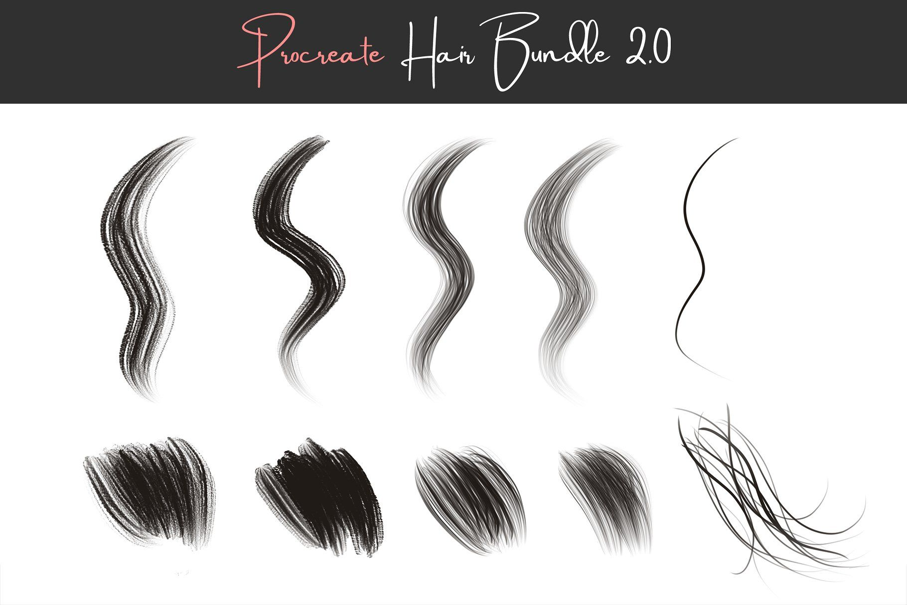 Procreate Hair Brushes 2 0 #Easy#painting#lot#simplify
