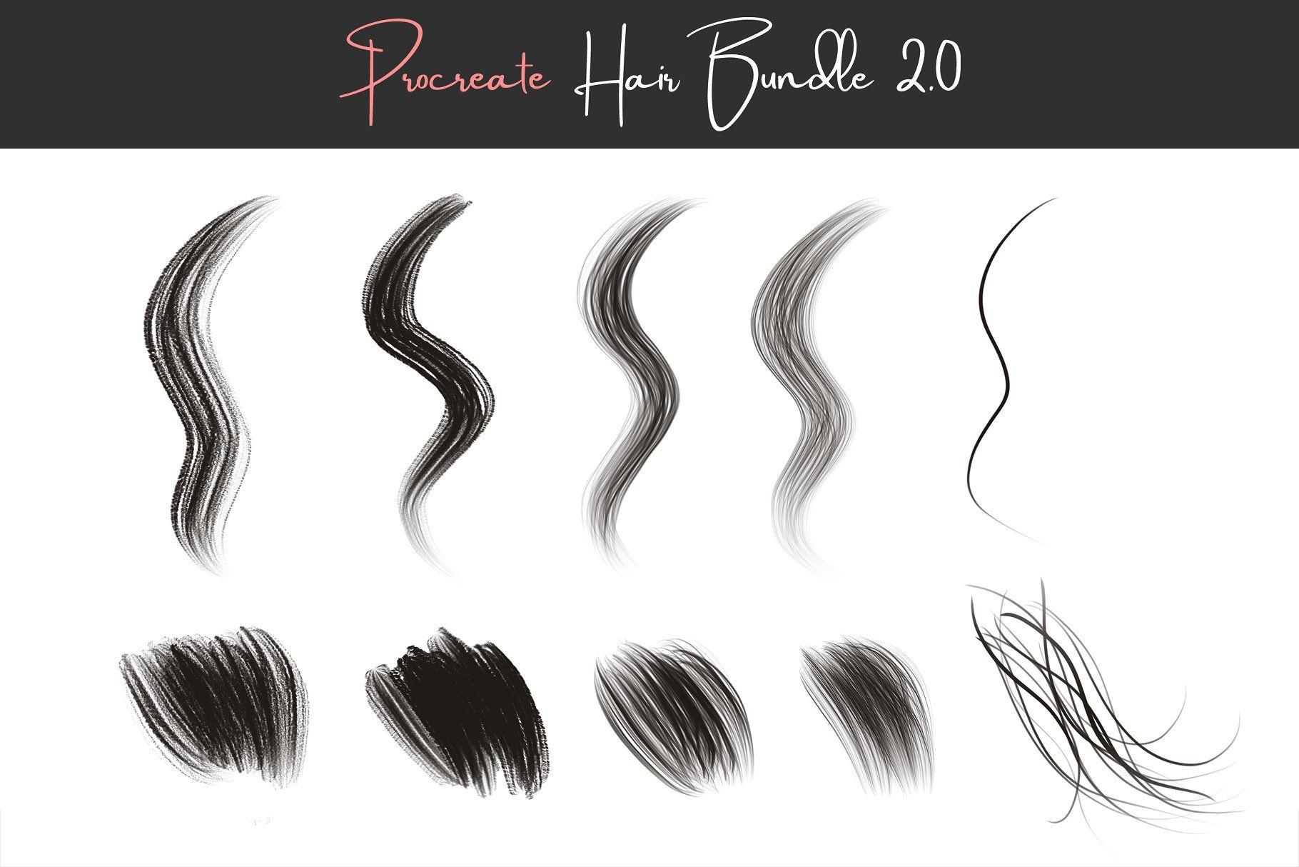 Procreate Hair Brushes 2 0 Procreate Photoshop Hair