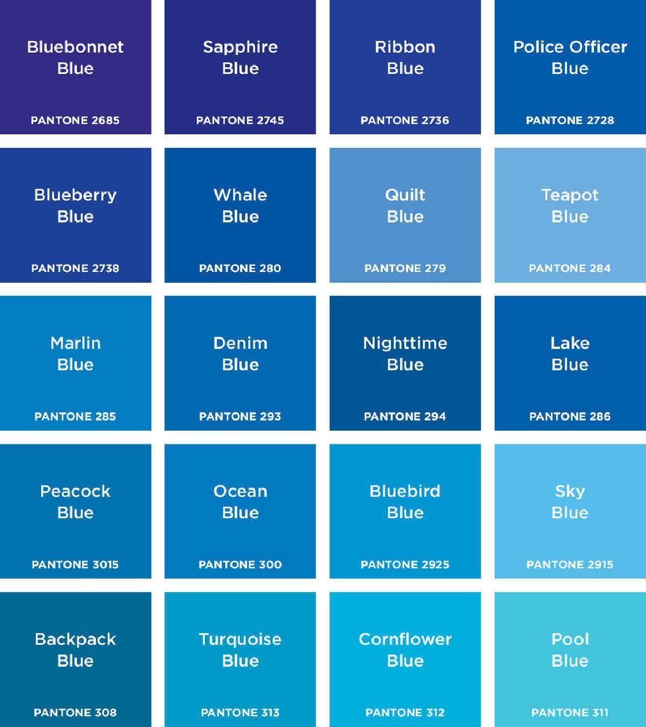 2016 Color Names Balance Colour Pallette Swatches Psychology Blue
