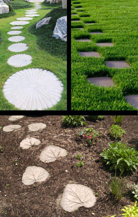 How To Make Stepping Stones | IdealHomeGarden.com | Decoraciones De Jardín, Jardines, Plantas Jardin
