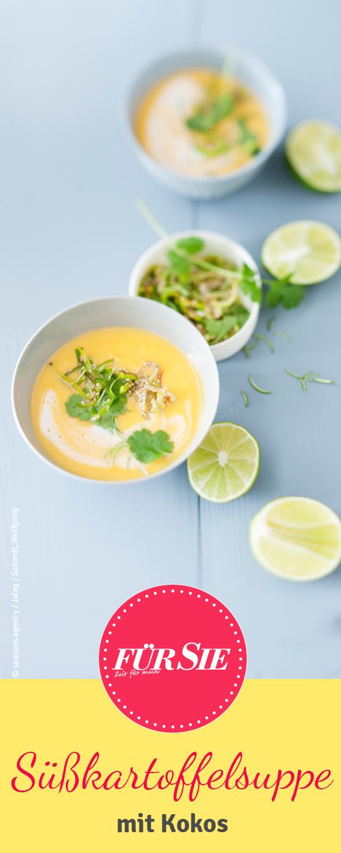 Süßkartoffel-Suppe mit Kokos