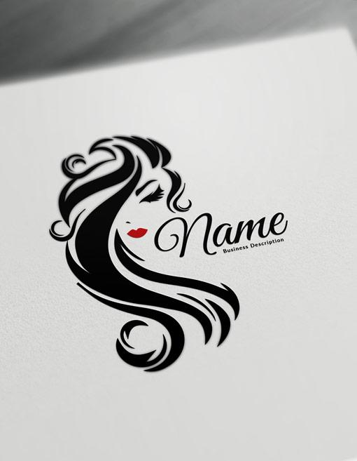 Beauty Logo Maker Free Logo Design Templates Face Hair Logos Logo Design Template Logo Maker Free Salon Logo Design