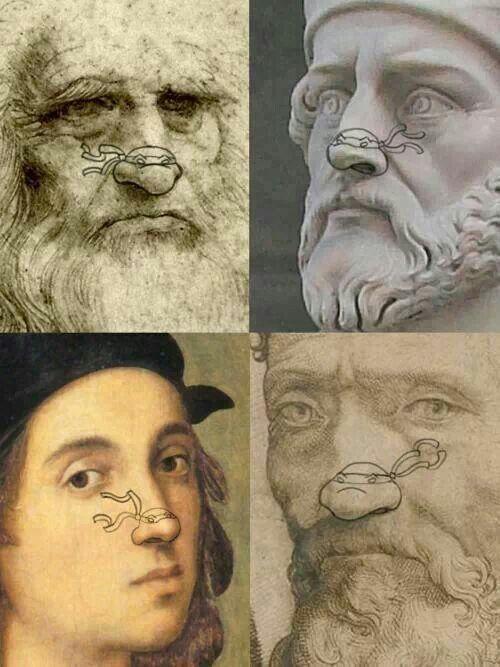 Leonardo Michelangelo Donatello Raphael