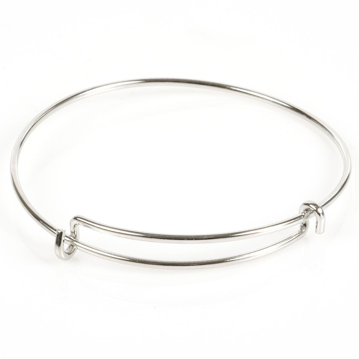 Steel Wire Adjustable Bracelet With Double Loop
